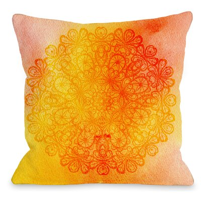 Doily Sunshine Throw Pillow Size: 18 H x 18 W x 3 D