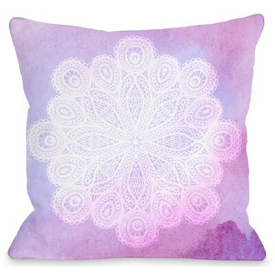 Doily Dream Throw Pillow Size: 16 H x 16 W x 3 D