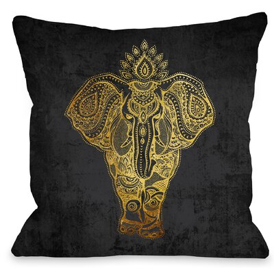 India Ele Throw Pillow Size: 18 H x 18 W x 3 D