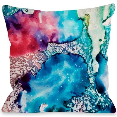 Psychadelic Throw Pillow Size: 18