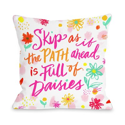 Full of Daisies Throw Pillow Size: 16 H x 16 W x 5 D