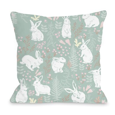 Easter Bunny Throw Pillow Size: 16 H x 16 W x 5 D