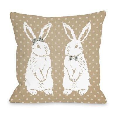 Bunny Friends Throw Pillow Size: 18 H x 18 W x 5 D