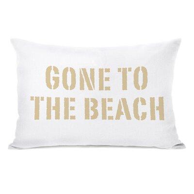 Hamptons Gone to the Beach Lumbar Pillow