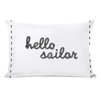 Hello Sailor Lumbar Pillow