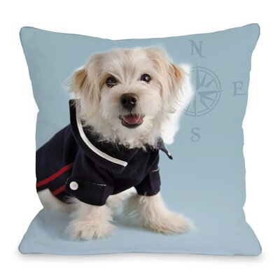 Hello Sailor Dog Throw Pillow Size: 18 H x 18 W x 3 D
