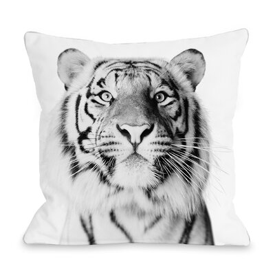 Ours Tiger Throw Pillow Size: 16 H x 16 W x 3 D