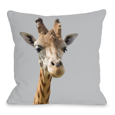 Ahead Giraffe Throw Pillow Size: 18 H x 18 W x 3 D