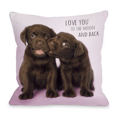 Love You To The Moon and Back Throw Pillow Size: 18 H x 18 W x 3 D