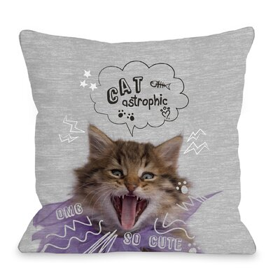 Catastrophic Throw Pillow Size: 16 H x 16 W x 3 D