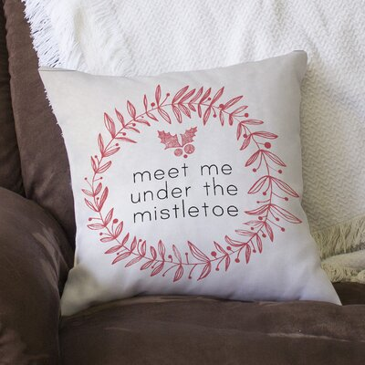 Mistletoe Linen Throw Pillow