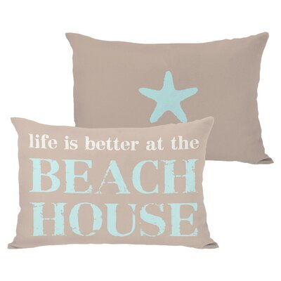 Better at the Beach House Outdoor Lumbar Pillow