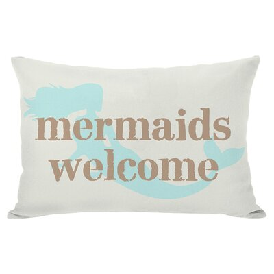 Mermaids Welcome Outdoor Lumbar Pillow