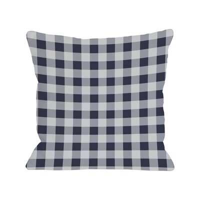 Classic Gingham Throw Throw Pillow Size: 16 x 16