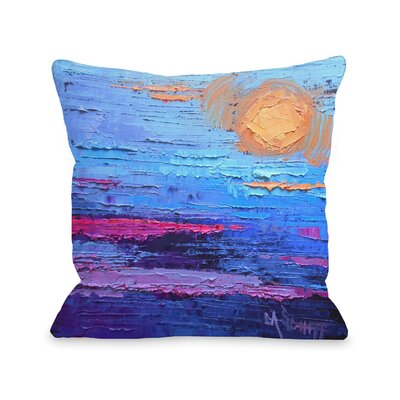 Pecora Moon Over Miami Outdoor Throw Pillow Size: 18 x 18