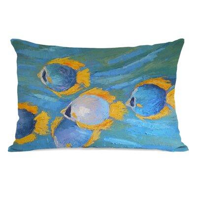 Cipriano Fish School Outdoor Lumbar Pillow