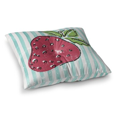 Corsica Strawbooty Outdoor Floor Pillow Size: 23 H x 23 W x 4 D