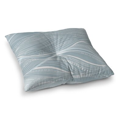 Courtdale Abstract Ocean Outdoor Floor Pillow Size: 6 H x 26 W x 26 D