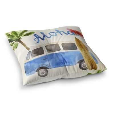 Belfort Surf Van Outdoor Floor Pillow Size: 23 x 23