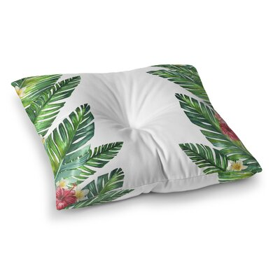 Izora Tropical Palm Leaves Outdoor Floor Pillow Size: 23 H x 23 W x 4 D