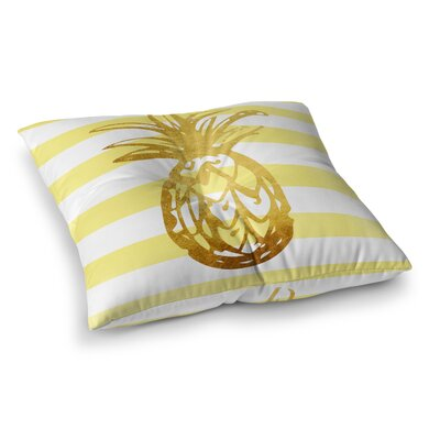 CirqueTropical Stripes Pineapple Outdoor Floor Pillow Size: 23 H x 23 W x 4 D