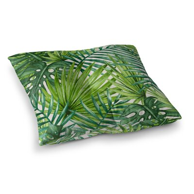 Jada Palm Leaves Outdoor Floor Pillow Size: 23 H x 23 W x 4 D