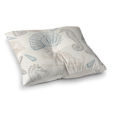Calais Natural Sea Life Outdoor Floor Pillow Size: 23 x 23