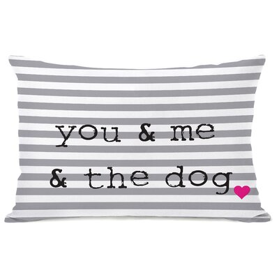 Croghan You & Me & The Dog Stripe Throw Pillow