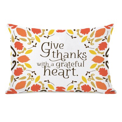 Georgianna Give Thanks Leaves Lumbar Pillow