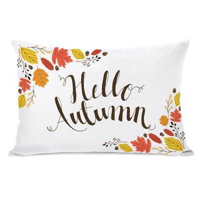 Geraldine Hello Autumn Lumbar Pillow