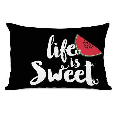 Shaunte Life Is Sweet Watermelon Lumbar Pillow