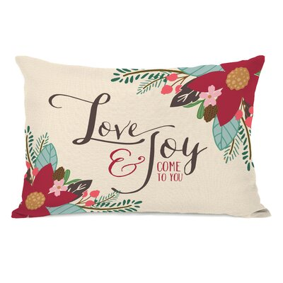 Gerald Love & Joy Come to You Lumbar Pillow