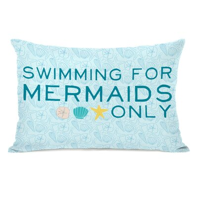 Brehmer Swimming for Mermaids Only Lumbar Pillow