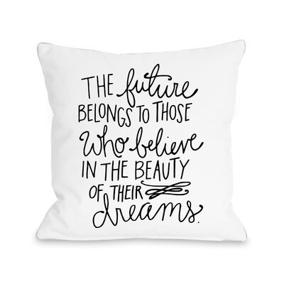 Sunset Point Beauty of Dreams Throw Pillow Size: 18 H x 18 W x 3 D