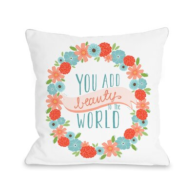 Ayesha Beauty to the World Throw Pillow Size: 18 H x 18 W x 3 D