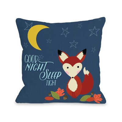 Clairevale Good Night Fox Throw Pillow Size: 18 H x 18 W x 3 D