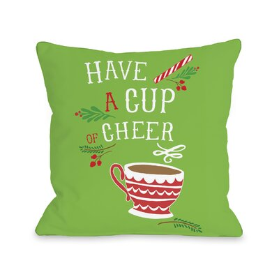 Mavis Have a Cup of Cheer Throw Pillow WNPR1361 38776223