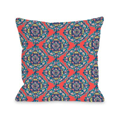 Schroeder Mandalas on Coral Throw Pillow Size: 16