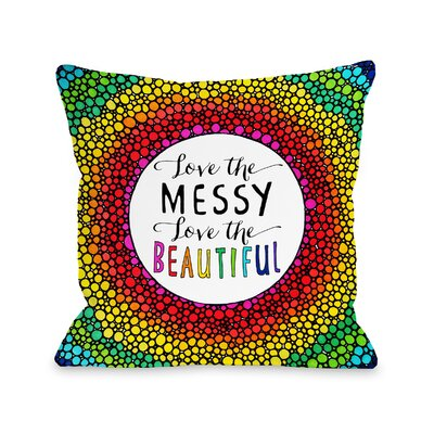 Dalila Messy Beautiful Throw Pillow Size: 18 H x 18 W x 3 D