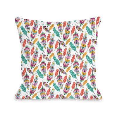 Mcclain Ruffle Your Feathers Throw Pillow Size: 16 H x 16 W x 3 D
