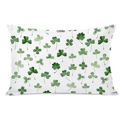 Zinnia Shamrocks Lumbar Pillow