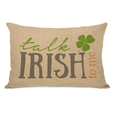 Zula Talk Irish to Me Lumbar Pillow