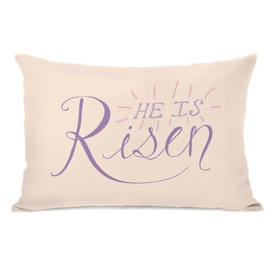 He Is Risen Lumbar Pillow