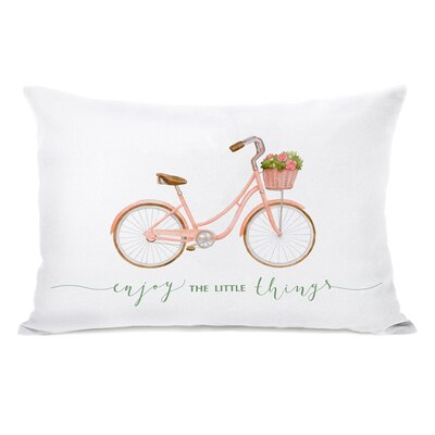 Levay Enjoy the Little Things Bike Lumbar Pillow