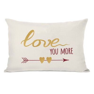Edison Love You More Arrows Lumbar Pillow