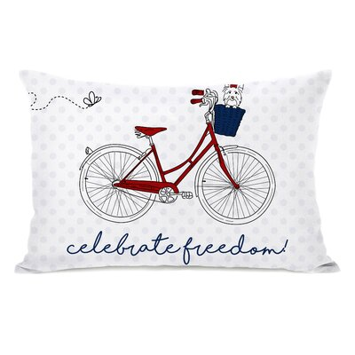 Liberatore Celebrate Freedom Bike Lumbar Pillow