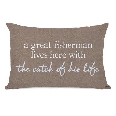 Cirebon Fisherman Catch Of Life Outdoor Lumbar Pillow