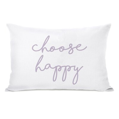 Liggett Choose Happy Wildflower Lumbar Pillow