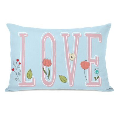 Clemmence Floral Love Lumbar Pillow