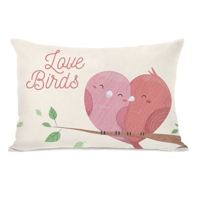 Jardin Love Birds Branch Lumbar Pillow